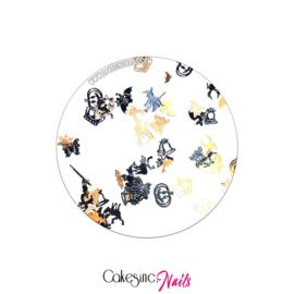 Glitter.Cakey - Mini Black Halloween Mixed Sliced Charms