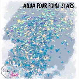 Glitter.Cakey - Aqua Four Point Stars