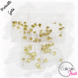 CakesInc.Nails - Italian Flowers Gold Metallic
