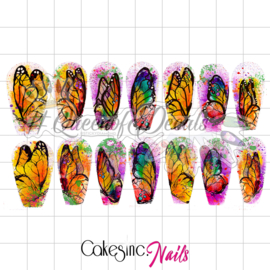 Queen of Decals - Watercolour Butterflies 'NEW RELEASE'