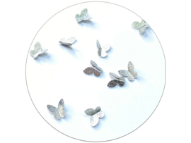 Glitter.Cakey - Silver 'Butterfly Charms Set'