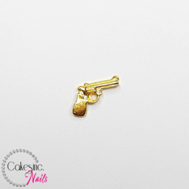 Glitter.Cakey - Gold Gun Charm