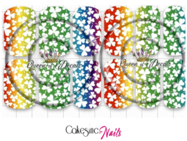 Queen of Decals - Rainbow Clovers 'NEW RELEASE'