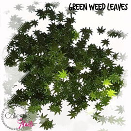 Glitter.Cakey - Green Weed Leaves