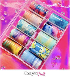CakesInc.Nails - Transfer Foil Set #015 'Easy Marbling'