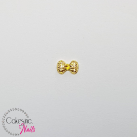 Glitter.Cakey - Gold Ribbled Bow Charm