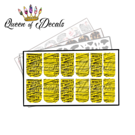 Queen of Decals - OW Yellow Strap 'NEW RELEASE'
