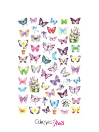 Glitter.Cakey - Butterfly 'STICKER SHEET R339'
