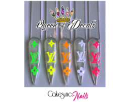 Queen of Decals -  Neon V L 'STICKER SHEET'