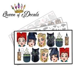 Queen of Decals - Sanderson Sisters - Hocus Pocus 'NEW RELEASE'