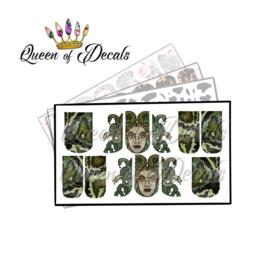Queen of Decals - Medusa & Snake Skin 'NEW RELEASE'