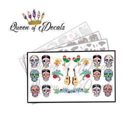 Queen of Decals - Sugar Skulls 'NEW RELEASE'