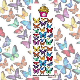 CakesInc.Nails - Watercolour Rainbow Butterflies 'NAIL DECALS'