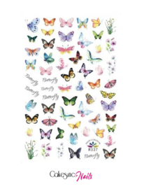 Glitter.Cakey - Butterfly 'STICKER SHEET R337'