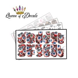 Queen of Decals - Eyeballs 'NEW RELEASE'