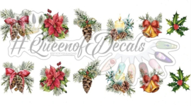 Queen of Decals -  Christmas Corsages