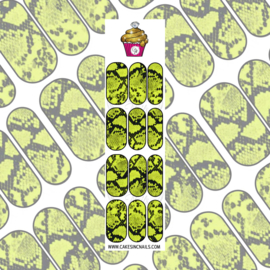 CakesInc.Nails - Bright Yellow Snake Skin 'NAIL DECALS'