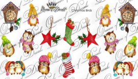 Queen of Decals -  Christmas Birds
