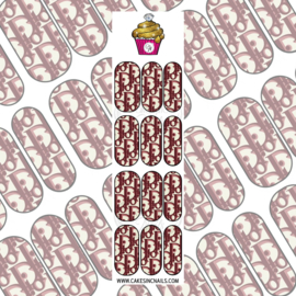 CakesInc.Nails - Brown DD Addict 'NAIL DECALS'