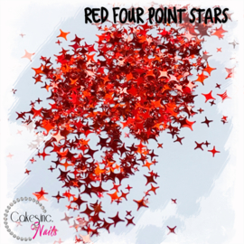 Glitter.Cakey - Red Four Point Stars
