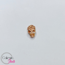 Glitter.Cakey - Rose Gold Crystals Skull Charm 'HALLOWEEN'
