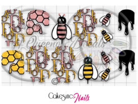 Queen of Decals - Honey Bee 'NEW RELEASE'