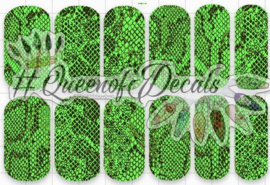 Queen of Decals -  Neon Green Snake Skin 'NEW RELEASE'