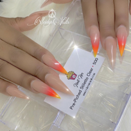 CakesInc.Nails - Pre-Pinched Stiletto 500 Clear Tips
