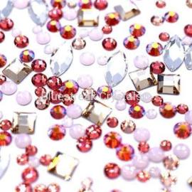 Bluestreak Crystals - Peaches & Cream Mix (Preciosa)