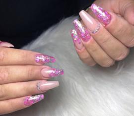 Glitter Blendz - Neon Pink Hearts