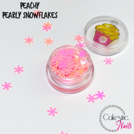 Glitter.Cakey - Peachy Pearly Snowflakes