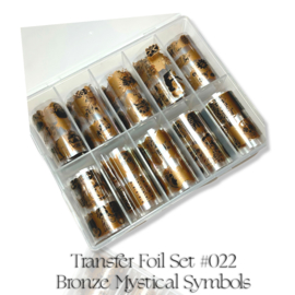 CakesInc.Nails - Transfer Foil Set #022 'Bronze Mystical Symbols' Negative Space