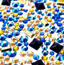 Bluestreak Crystals - Pharoh Mix (Preciosa)