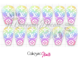 Queen of Decals - Pretty Pastel V L 'NEW RELEASE'