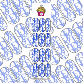 CakesInc.Nails - Blue DD 'NAIL DECALS'