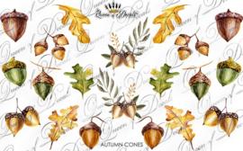Queen of Decals - Autumn Cones