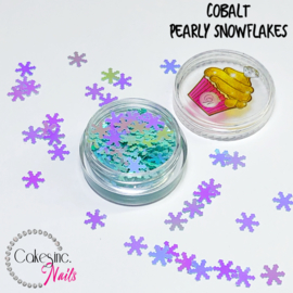 Glitter.Cakey - Colbalt Pearly Snowflakes