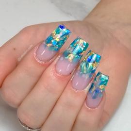 Glitter.Cakey - Ocean Blue 'SEA SHELLS'