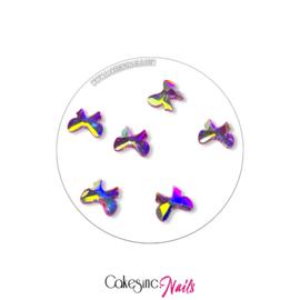 Crystal.Cakey - Bows (7x9mm) 'Aurora Borealis'