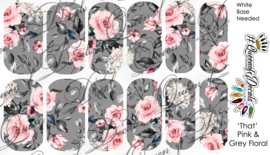 Queen of Decals - 'That' Pink & Grey Floral (The Ultimate)