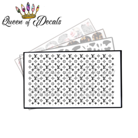 Queen of Decals - BLACK V L FULL SHEET 'NEW RELEASE'