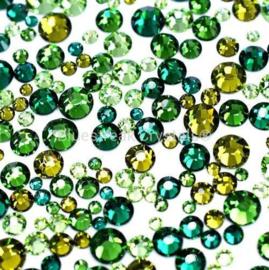 Bluestreak Crystals - Forest Green Mix (Preciosa)
