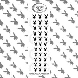 CakesInc.Nails - Metallic Play Bunny 'NAIL DECALS'