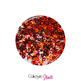 Glitter.Cakey - Holographic Red 'HOLLOW HEARTS'