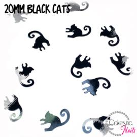 Glitter.Cakey - 20mm Black Cats 'HALLOWEEN S1'