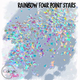 Glitter.Cakey - Rainbow Four Point Stars