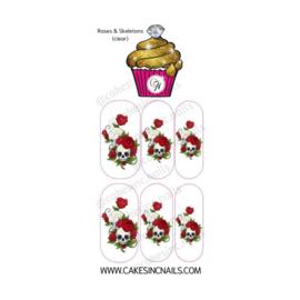 CakesInc.Nails - Roses & Skeletons (Mini) 'NAIL DECALS'