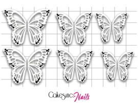 Queen of Decals -  White Negative Space Butterfly Wings 'NEW RELEASE'