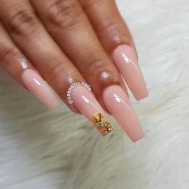 Glitter.Cakey - Gold Y$L Clear Crystals Charm