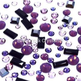 Bluestreak Crystals - Palma Violet Mix (Preciosa)